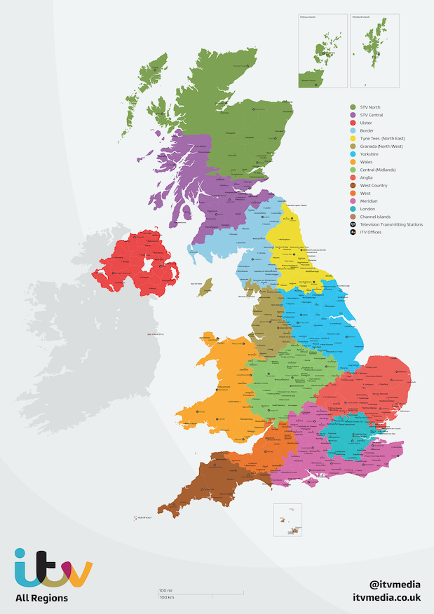 ITV Regional Coverage Maps